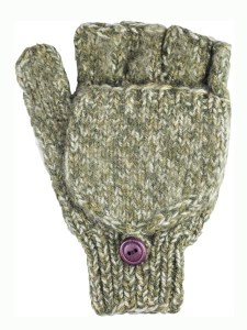 Glitten Convertible Mitten, Olive, Alpaca Blend, winter Mittens for the whole family