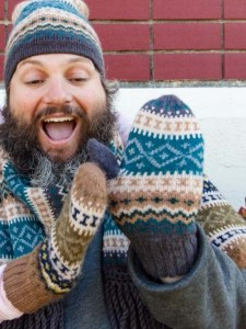 Sierra Mittens, Navy, Alpaca Blend, winter Mittens for the whole family