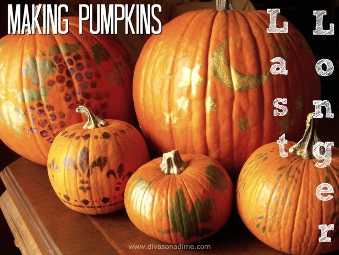 Save money by making your fresh pumpkin last as long as possible, before and after you carve.