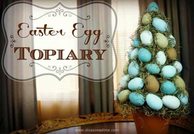 Easter Egg Topiary DIY for easy Spring home decor