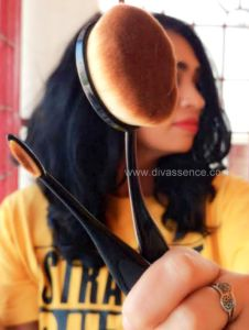 Deepika Mohan, wisheshe oval brushes review, best drugstore makeup brushes in India, divassence