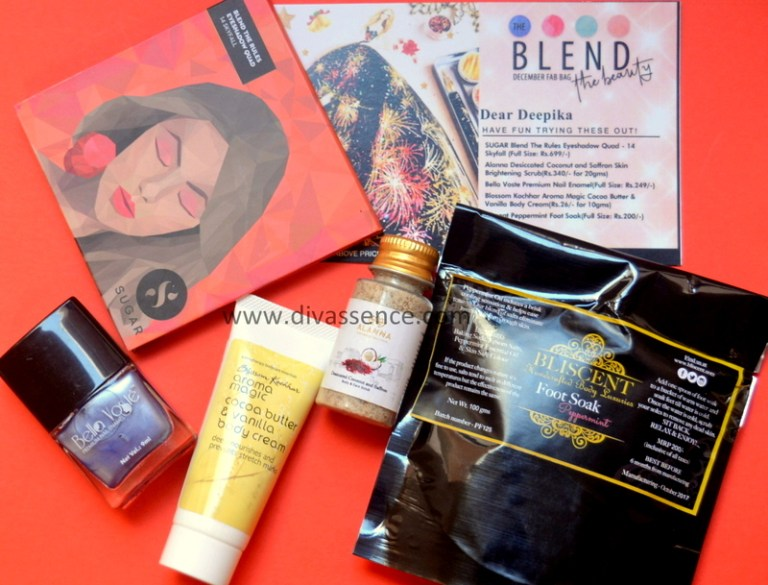 Fab Bag December 2017, Indian beauty subscription bags, best makeup shopping sites in India, Indian makeup blog, Indian beauty blog, shop makeup online