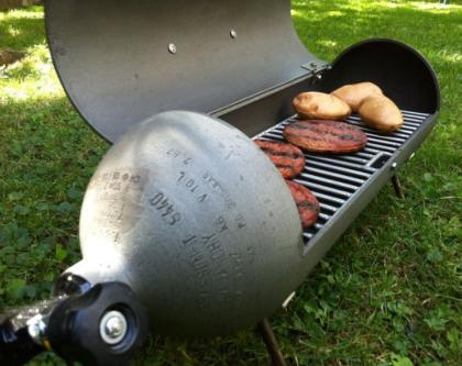 The Scuba Tank Grill - good use for old air tanks