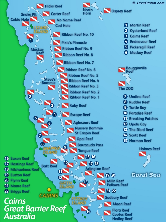 Coral Sea Location Map