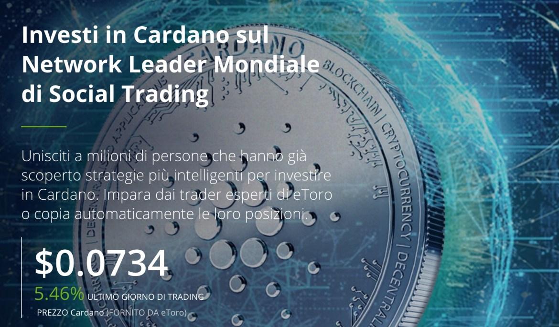 Comprare Cardano eToro