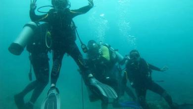 צולל במהלך קורס צלילה בפאניקה