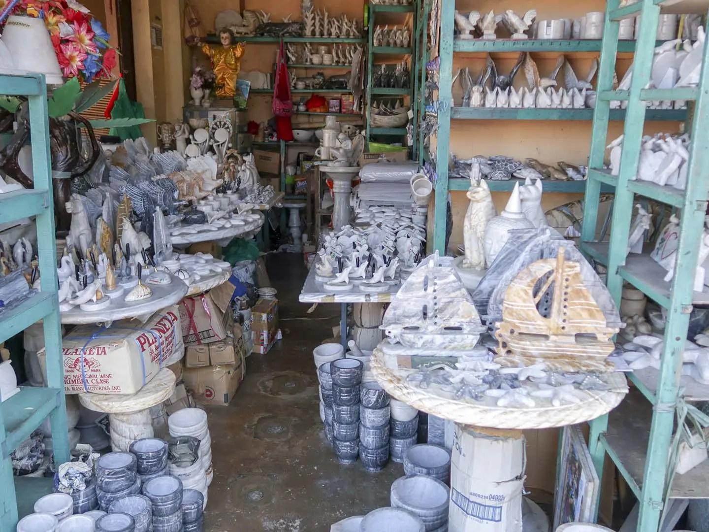 Marble souvenir shop in Romblon, Philippines