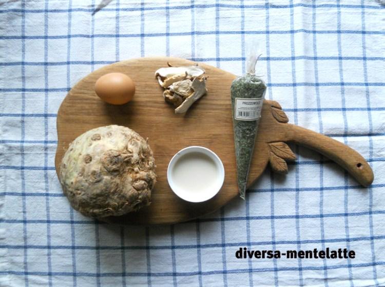 Ingredienti frittata di sedano rapa al forno