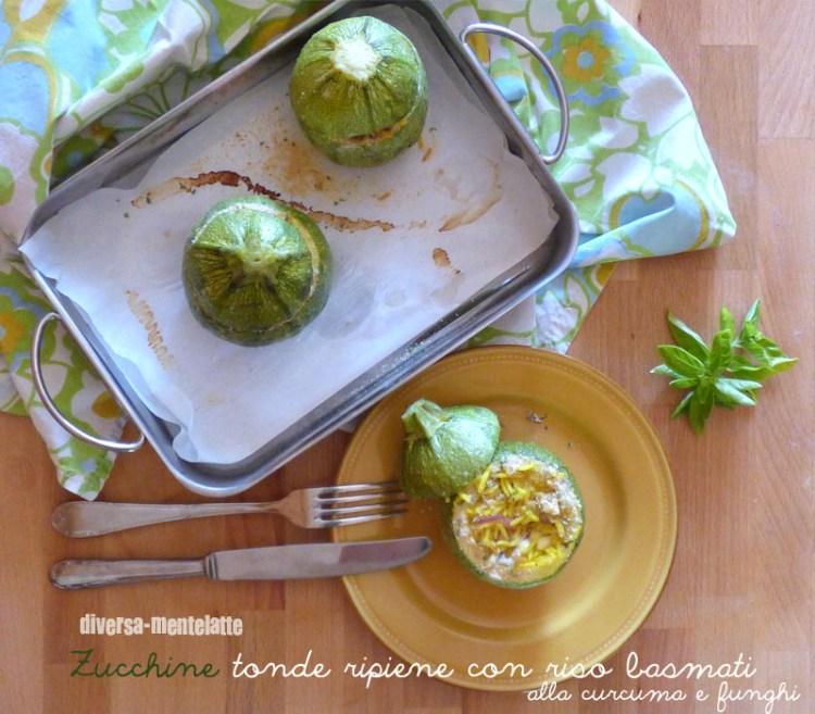 Zucchine tonde ripiene con riso basmati