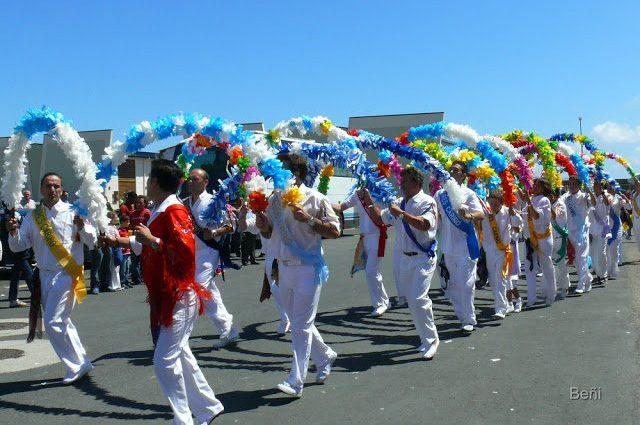 baile tradicional de los marineros en la procesion de la virgen del carmen