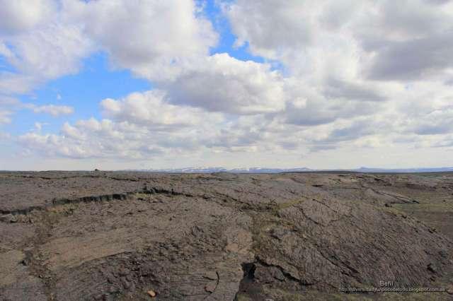 El paisaje en torno a las cascadas Dettifoss y Selfoss