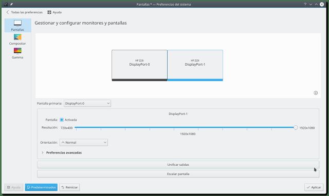 Gestionar y configurar monitores y pantallas