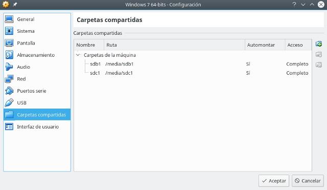 configurar la maquina virtual, virtualbox, carpetas compartidas