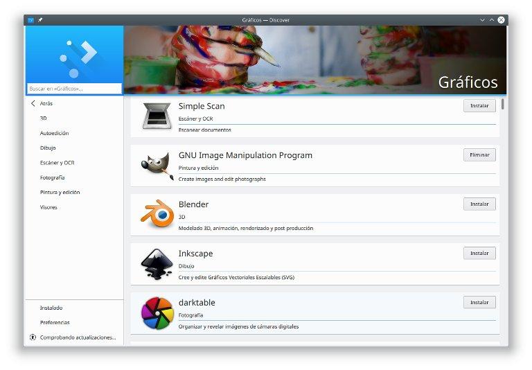 Instalar aplicaciones con discover