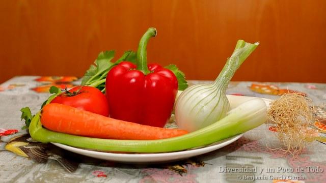 verduras para la sopa de pescado islandesa