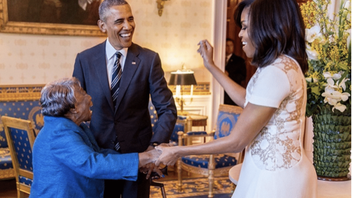 Michelle Obama: Virginia McLaurin's 'Still Dancing at 110 Years Old'