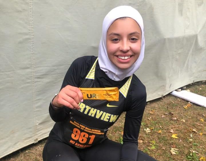 News Muslim-American Muslim hijab Noor Abukaram cross country race track disqualification OHSAA Sylvania Northview High School runner