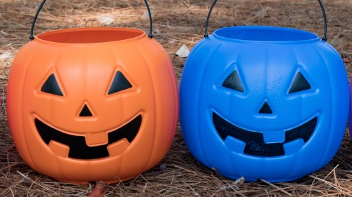 blue buckets, halloween, autism, trick or treat, trick-or-treaters, autism