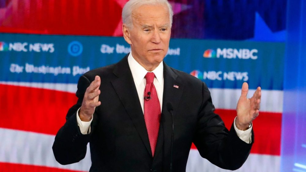 keep punching response Joe Biden presidential debate domestic violence women