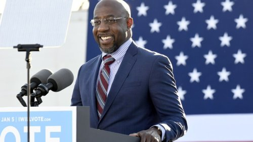 Rev. Raphael Warnock speaks at an event at Georgia State University
