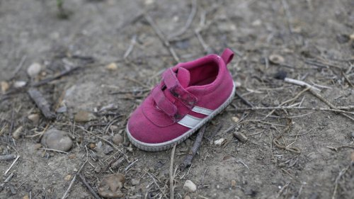 migrant child's shoe