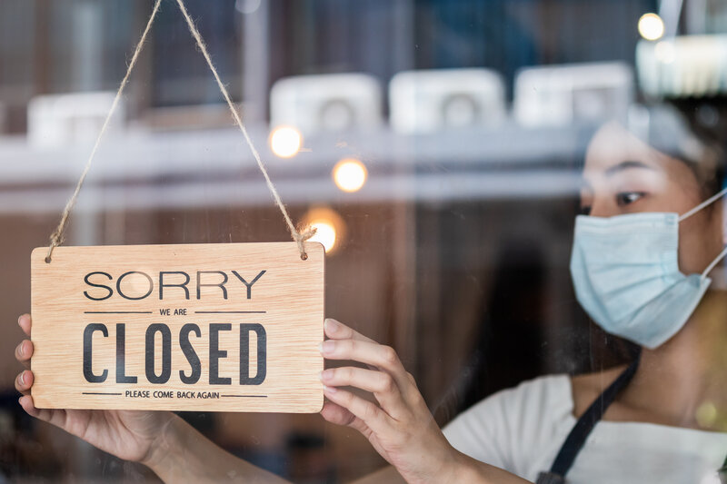 Asian business closed