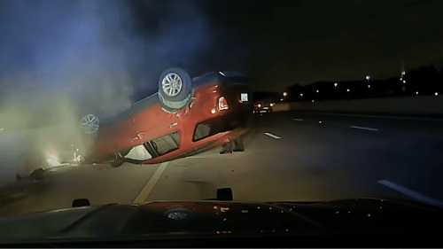 Nicole Harper's vehicle flipped over in July 2020