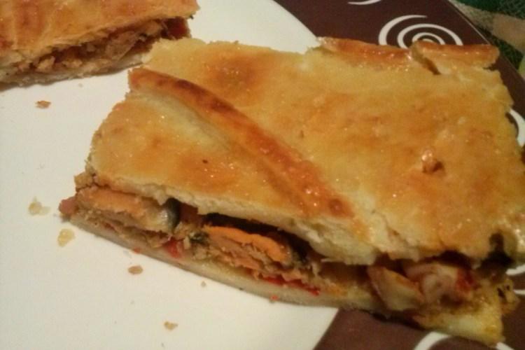 Empanada de mejillones.