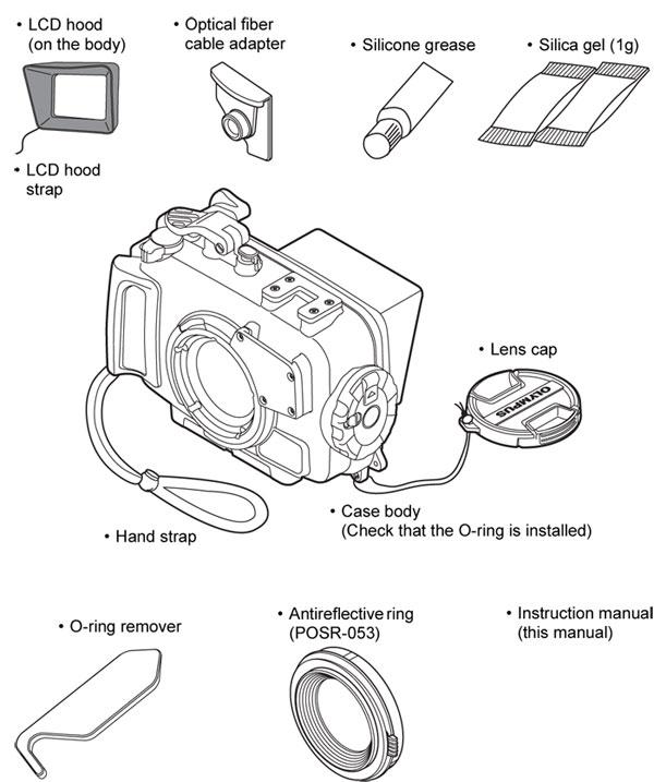 Olympus PT-058 Housing & Weefine Ring Light 1000 Set for