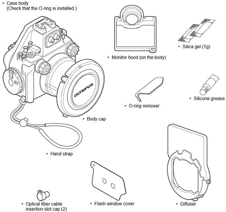 Olympus PT-EP13 Housing for Olympus OM-D E-M5 Mark II Camera