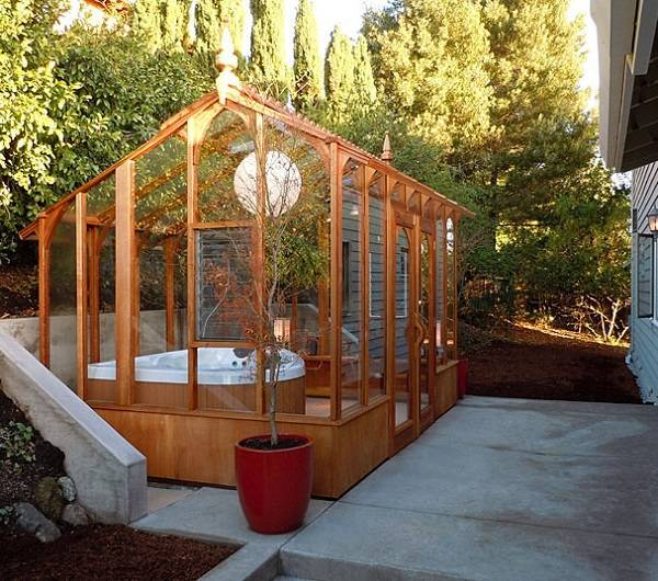 Gorgeous DIY Wooden Hot Tub Enclosure Kit for Your Backyard