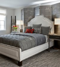10 Calm and Elegant Gray and Beige Bedroom Decorations Ideas