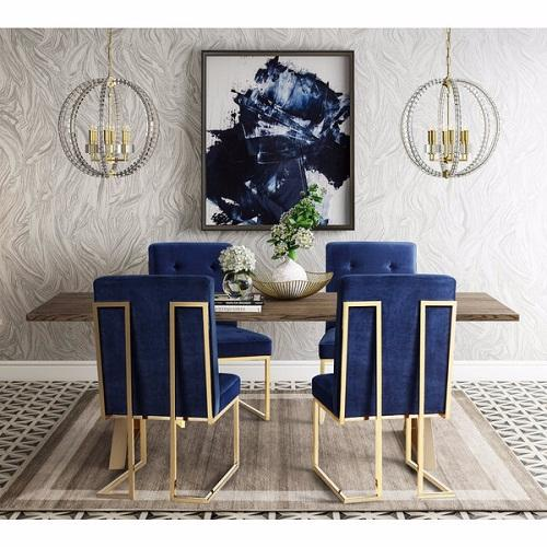 Adorable  Affordable Navy Dining Room Chairs For Your