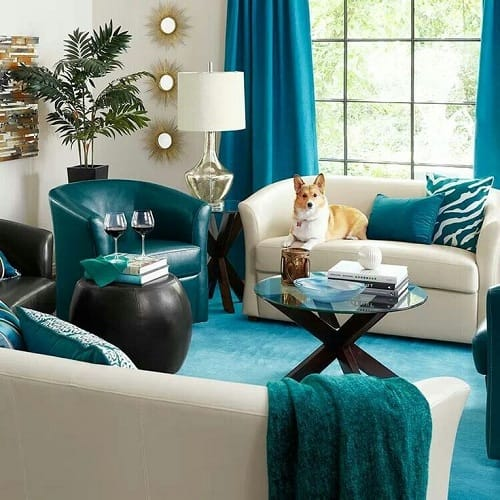 teal living room chair how to decorate a on budget 10 recommended brighten up your 1