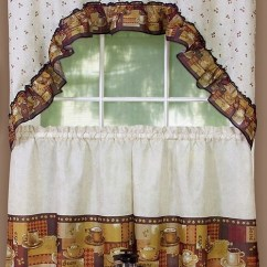 Kitchen Tier Curtains Glad Tall Bags 8 Adorable Coffee Themed Under $40.00
