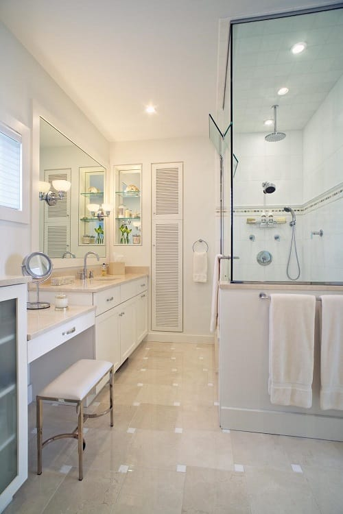 10 Stunning  Gorgeous Bathroom Vanity with Makeup Station Ideas