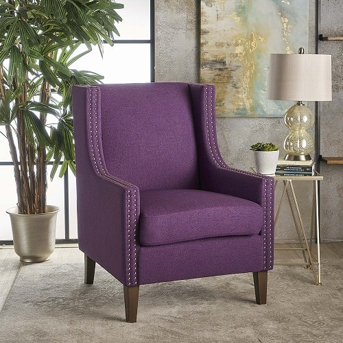 accent chairs with arms folding chair storage ideas best selling luxurious purple living room on amazon