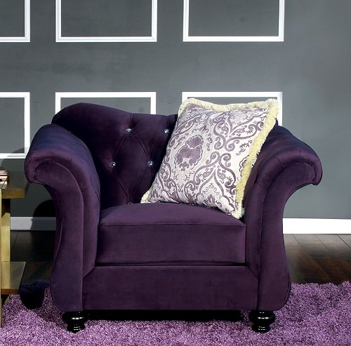 cheap furniture living room arrangements with tv best selling luxurious purple accent chairs on ...