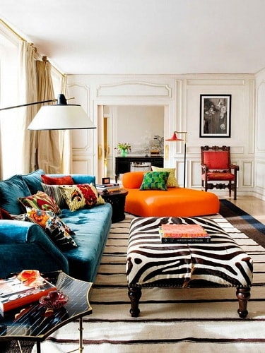 17 Teal And Orange Living Room Ideas For The Cloudless