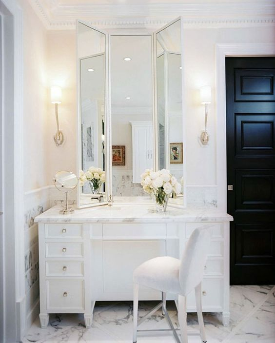 25 Most Inspiring Bathroom Vanity With Seating Area Ideas