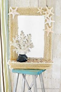 15+ Most Creative DIY Beach Themed Bathroom Mirrors That ...