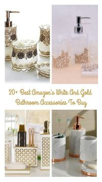 20+ Best Amazon's White And Gold Bathroom Accessories To Buy