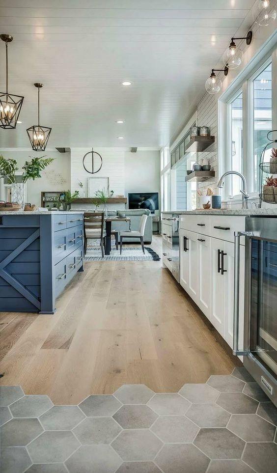 most unique kitchen tile floor ideas to