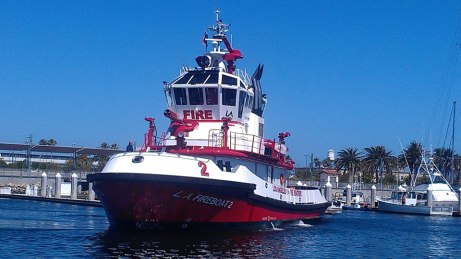Catalina Oil Rig 2013 Fireboat