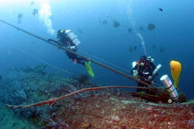 Ascent from HMS Repulse Tec Dive