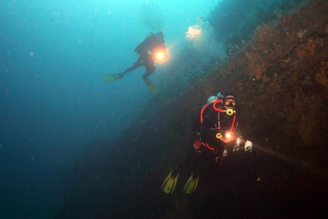 Tec Diving on our wrecks