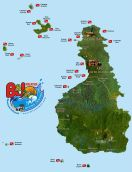 Tioman Island Map - copyright B&J