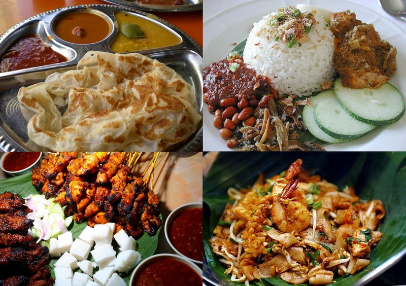 Examples of Malaysian food