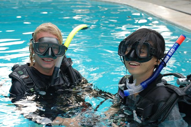 Pool dive at B&J Diving Centre - PADI Open Water course