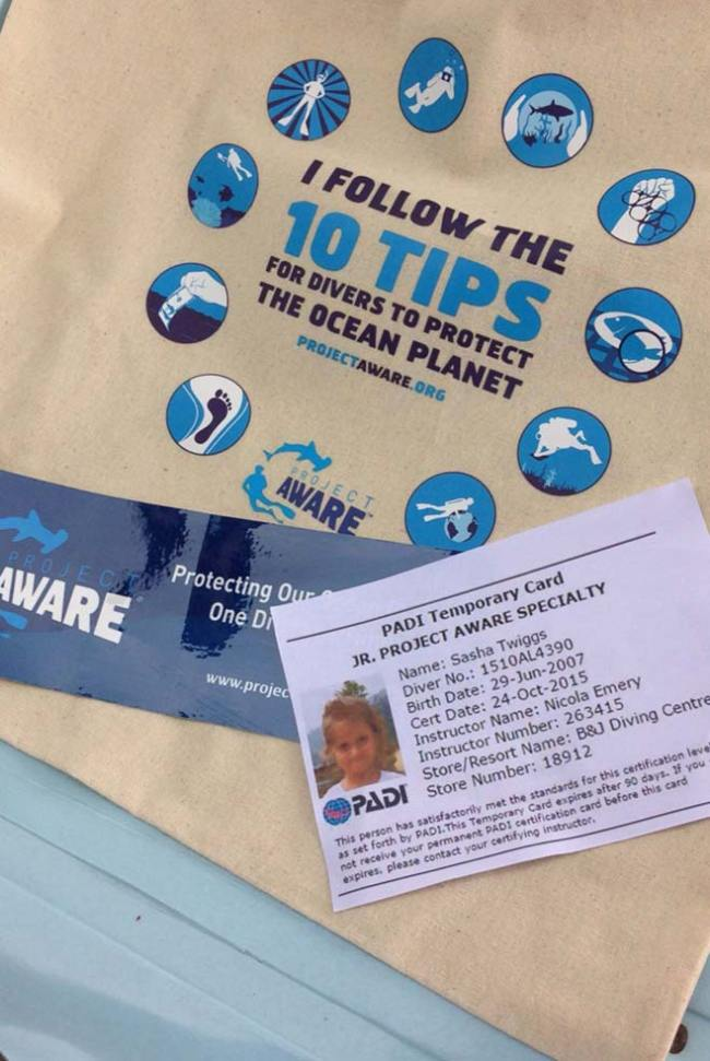 Certified Project AWARE Specialists receive special goodies!